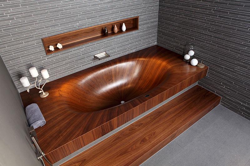 Wooden Bathtub Laguna by Alegna 3