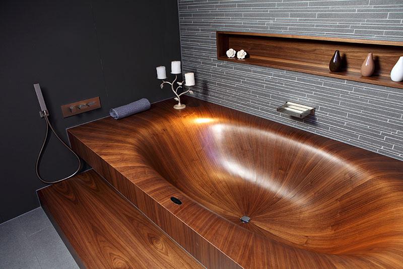 Wooden Bathtub Laguna by Alegna 4