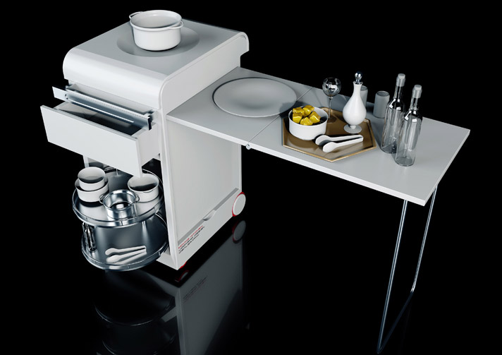 Compact Moving Kitchen by Joongho Design 1