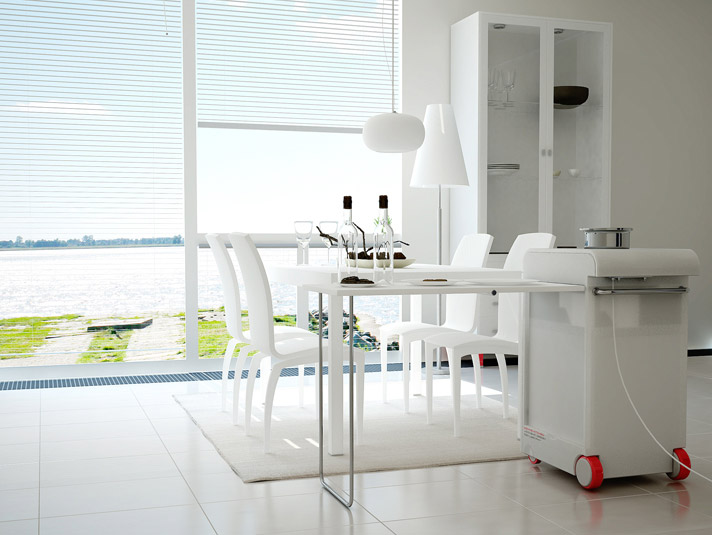 Compact Moving Kitchen by Joongho Design