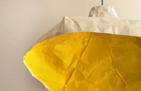 Crumpled Papery Lamp Papela by Meirav Barzilay 4