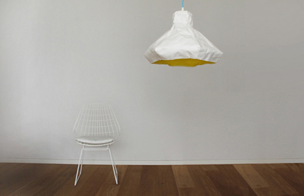 Crumpled Papery Lamp Papela by Meirav Barzilay 5