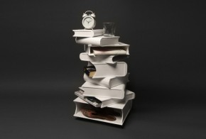 Functional Bedside Table 'Pile of Books'