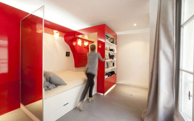 Compact Space Red Nest by Paul Coudamy