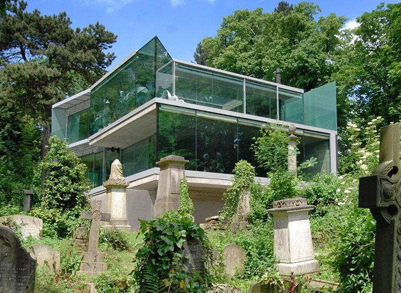 House Overlooking Cemetery by Eldridge Smerin 1