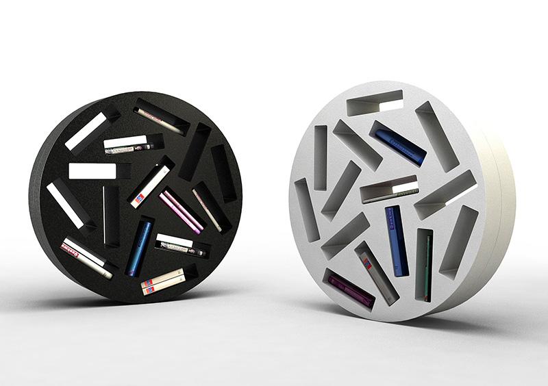 Rolling Bookshelf Design Patatras 2