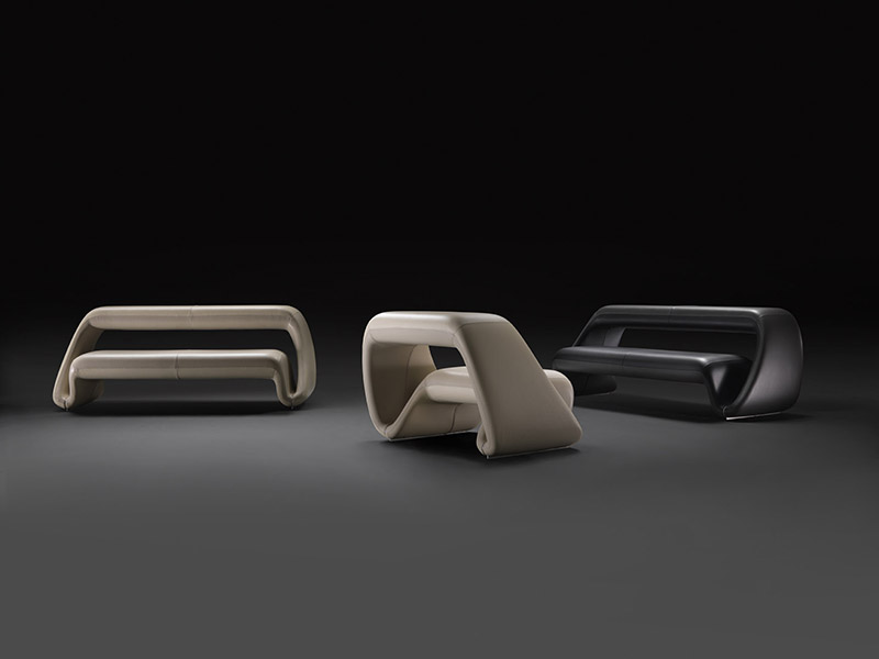 The Air Lounge System Sofa And Armchair By Meritalia