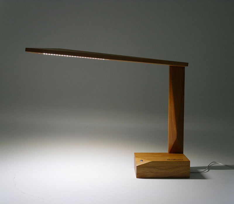 Oak Wood Table Lamp Ardea by Amitrani 1