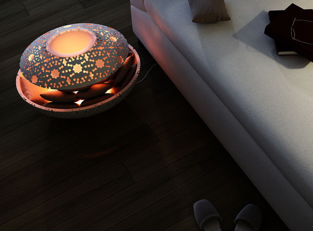 Canoon Space Heater by Younes Duret 3