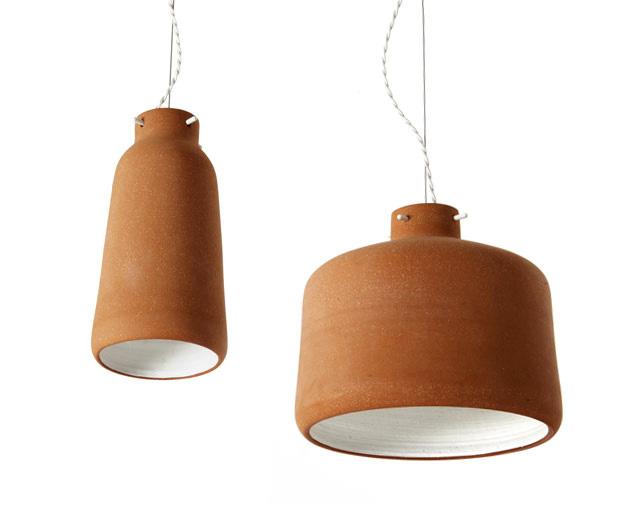 Chimney Clay Pendant Lamp by Benjamin Hubert 2