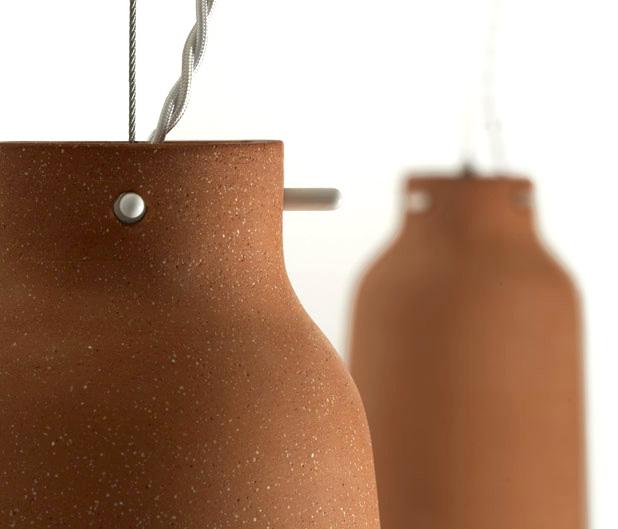 Chimney Clay Pendant Lamp by Benjamin Hubert 4