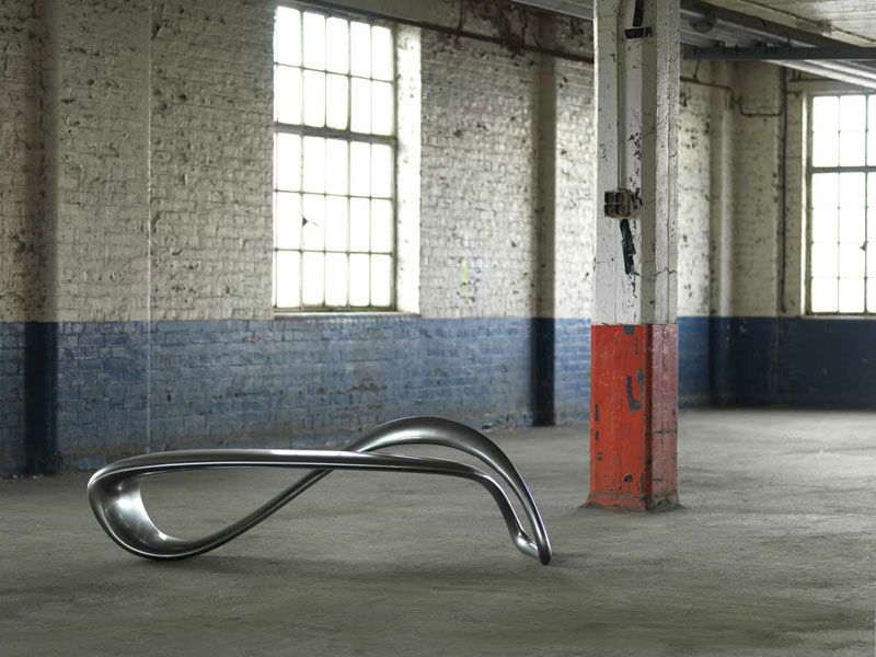 E-Turn Sculptural Bench by Brodie Neill 3