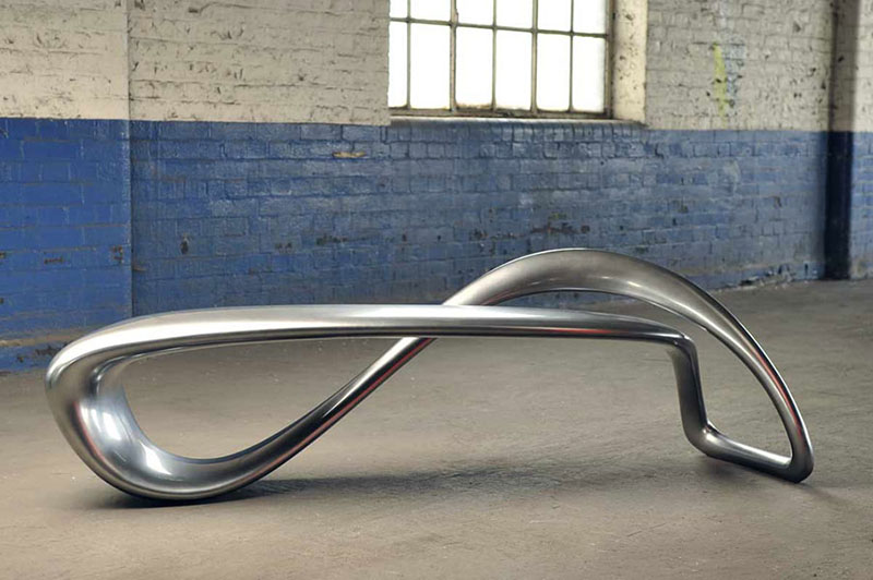 E-Turn Sculptural Bench by Brodie Neill 4