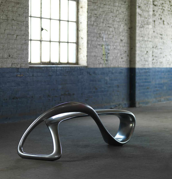 E-Turn Sculptural Bench by Brodie Neill 5