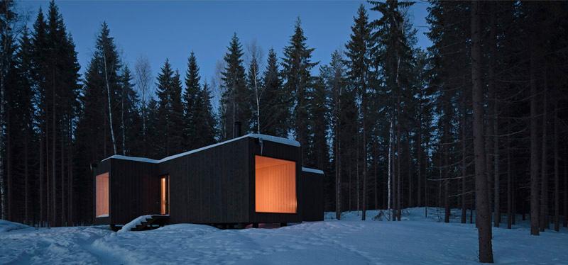 Four-Cornered Villa by Avanto Architects 3
