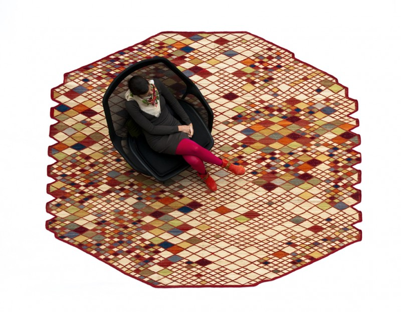 Losanges Rug by Ronan and Erwan Bouroullec 2