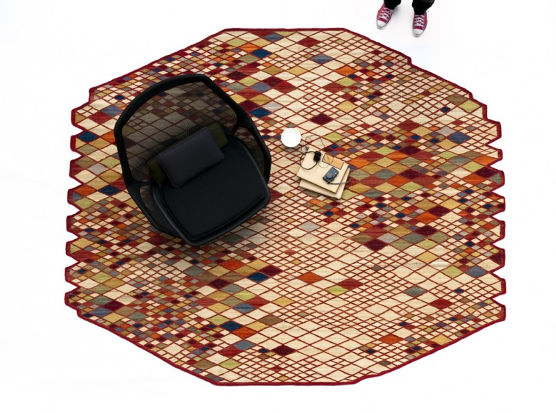 Losanges Rug by Ronan and Erwan Bouroullec 3
