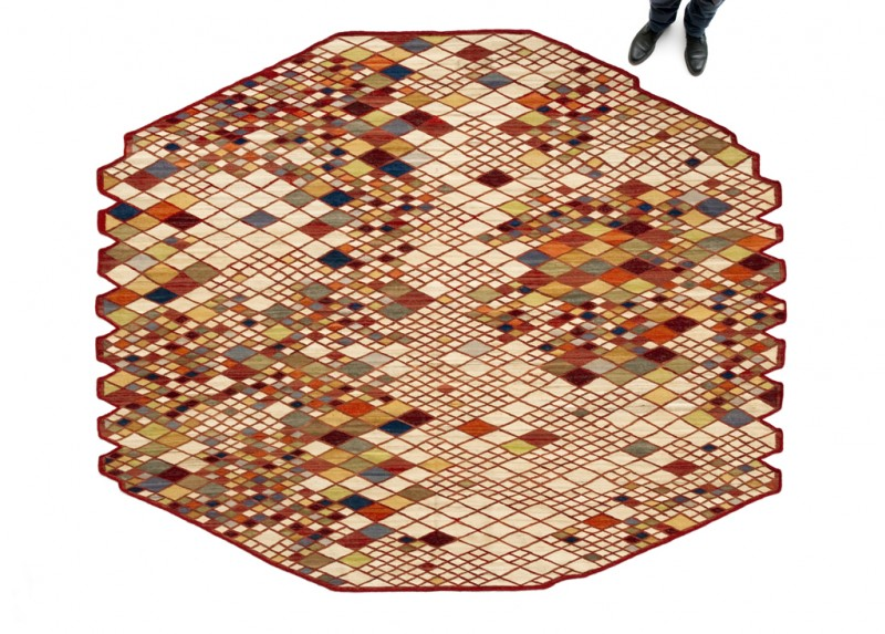 Losanges Rug by Ronan and Erwan Bouroullec 7