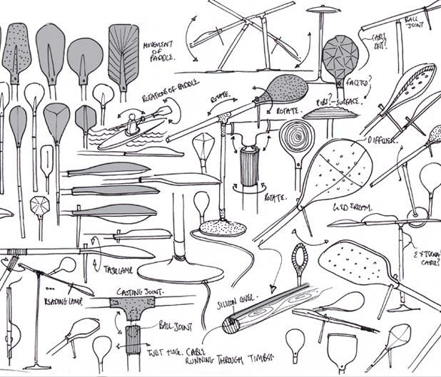 Paddle Lamp by Benjamin Hubert 9