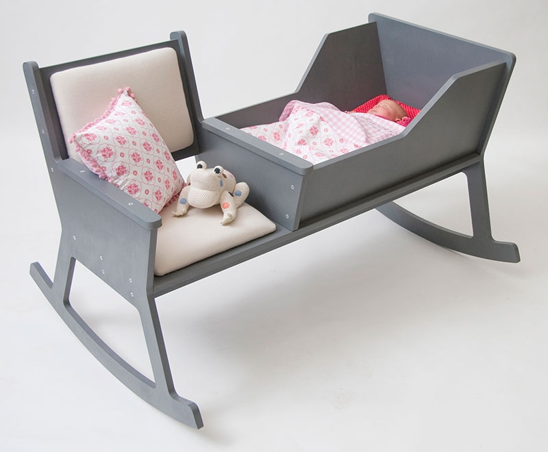 ... combines a rocking chair and cradle in a simple furniture layout you