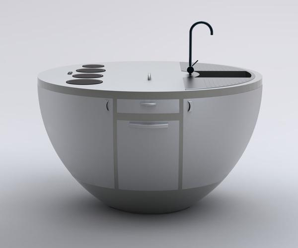 All-in-One Circular Kitchen Design Soria 2