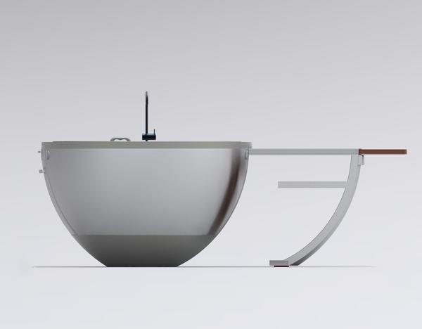 Futuristic compact kitchen design