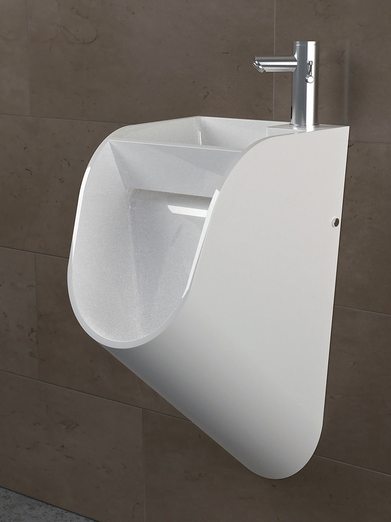 Drawing Room Furniture Design: Versatile Urinal-cum-Sink Design