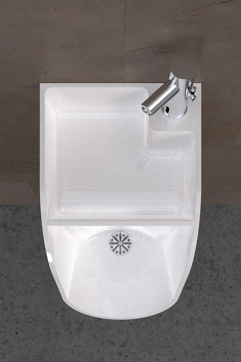 Tandem Urinal-cum-Sink 4