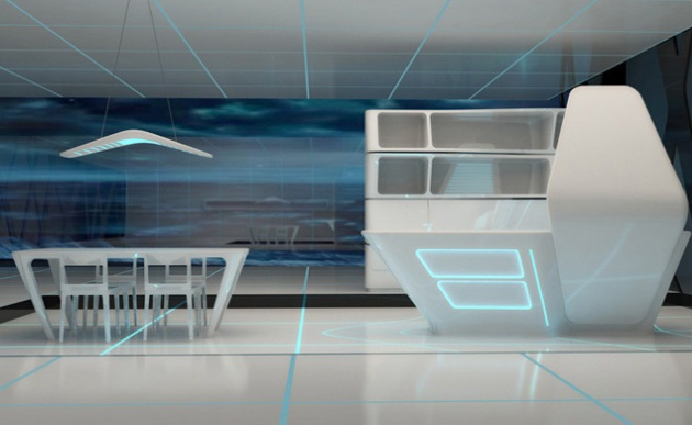 Kitchen and Dining area for TRON designs Corian 6