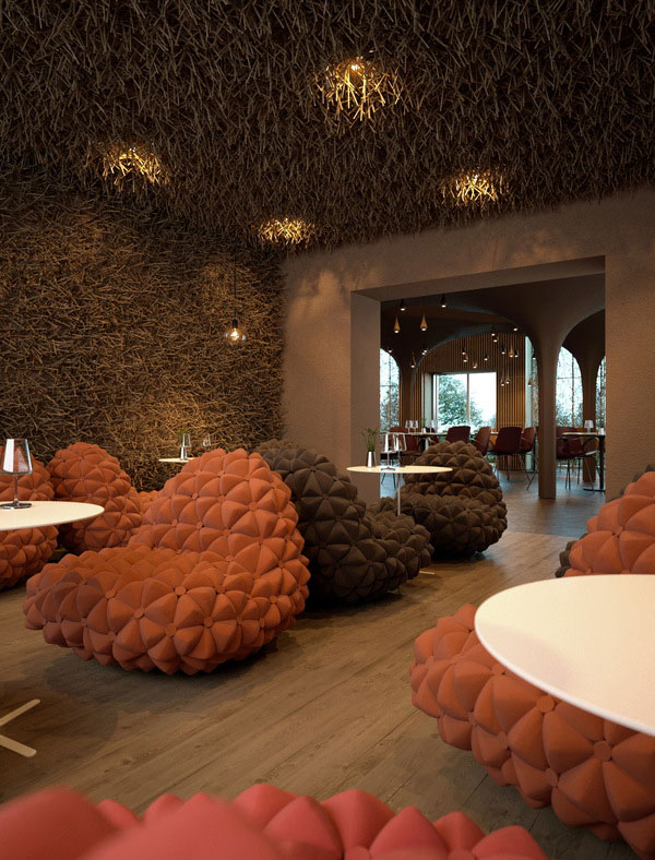 Twister Restaurant Interiors by Sergey Makhno and Vasiliy Butenko