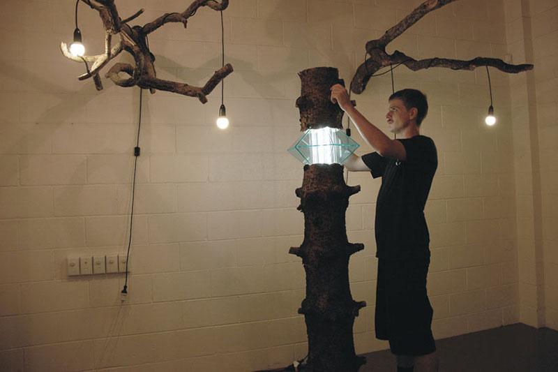 Log Lamp by Joel Booy and HAW 2