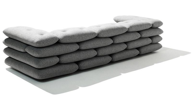 Brick sofa series by KiBiSi