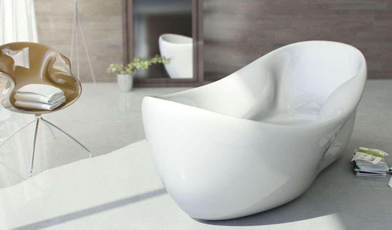 Charme modern white bathtub