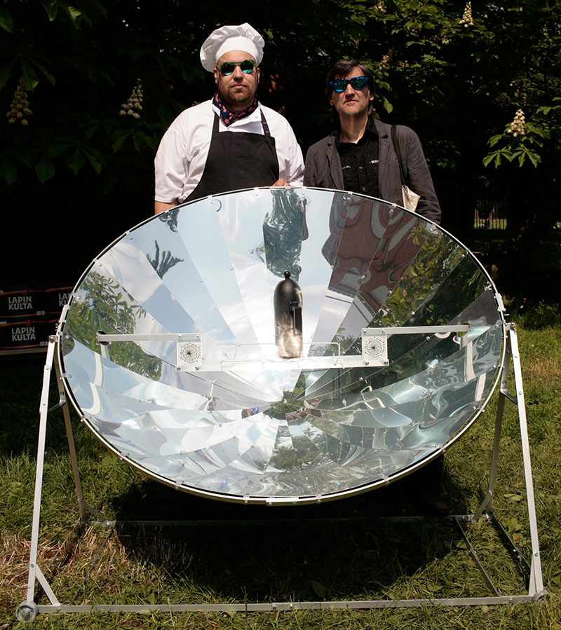 Martí Guixé and Antto Melasniemi with solar kitchen