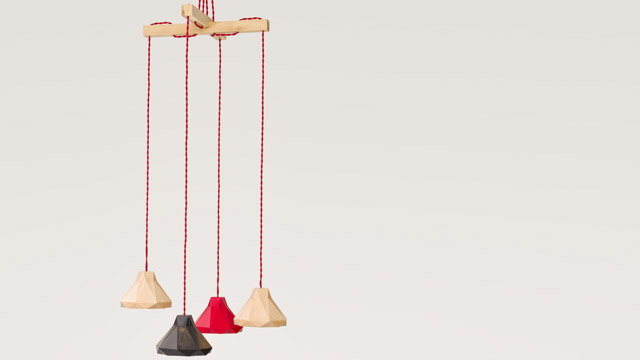 Marionette Wooden Suspended Lamp 2