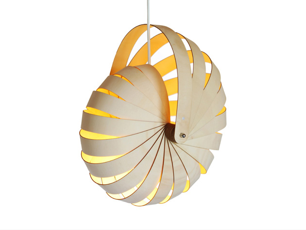 Nautilus Pendant Lamp by Rebecca Asquith