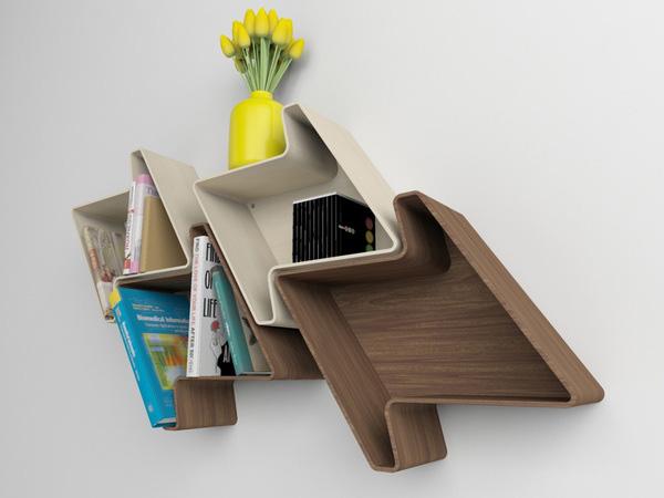 Pied-de-Poule Modular Wall Shelf System 2