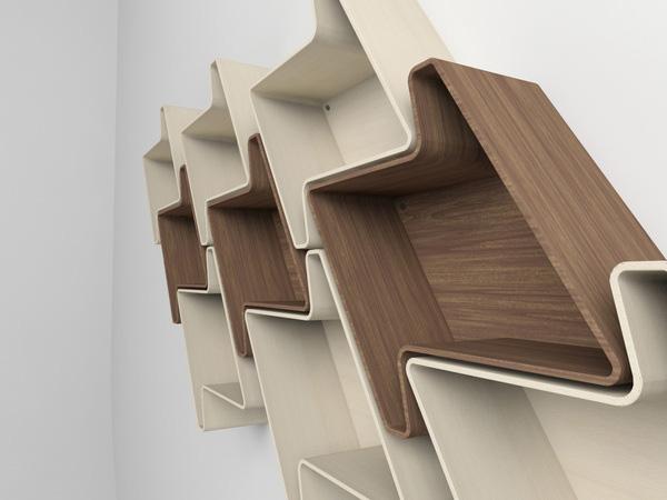 Pied-de-Poule Modular Wall Shelf System 3