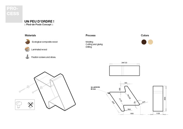 Pied-de-Poule Modular Wall Shelf System 5