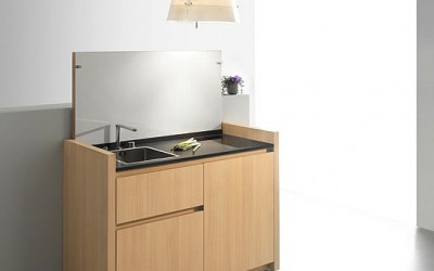 Compact Hyper-Equipped Kitchen K1 by Kitchoo