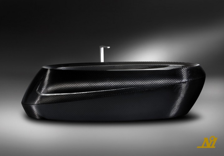 Futuristic carbon fiber bathtub 1