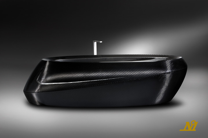 Dynamic Carbon Fiber Bathtub by Corcel