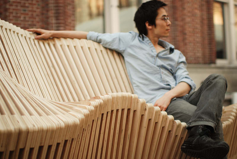 Polymorphic Kinetic Installation Bench 4