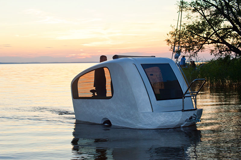 Camp anywhere with sealander amphibious caravan Sealander caravan