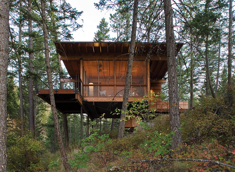 Cabin on Flathead Lake by Andersson-Wise Architects