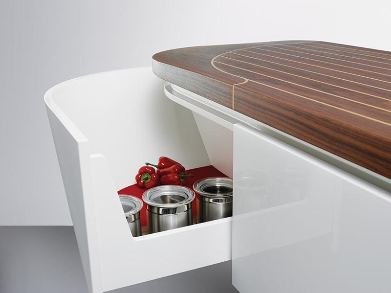Marecucina kitchen shaped like boat 10