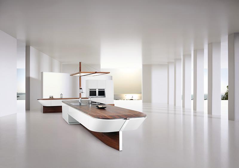 Marecucina kitchen shaped like boat 2