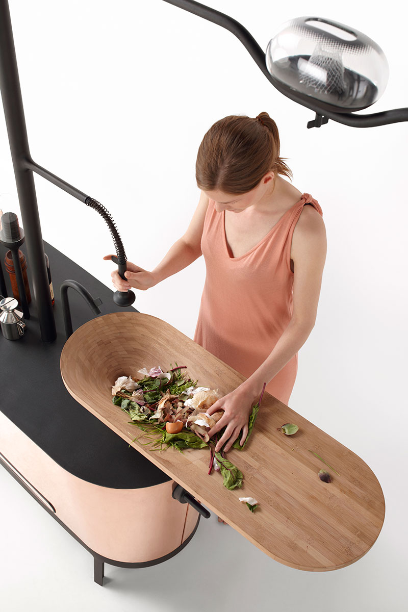 Bio-Digester Kitchen Island concept