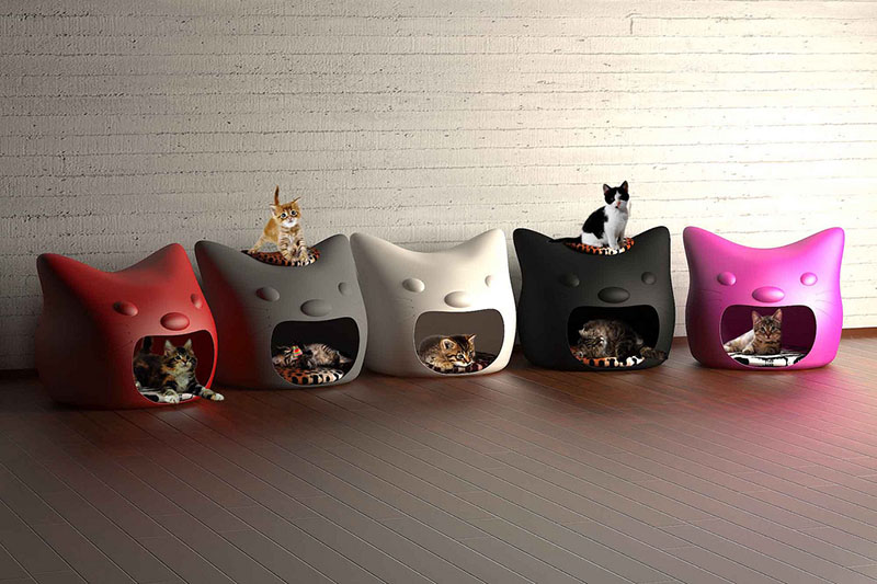 Kitty Meow cat bed 3