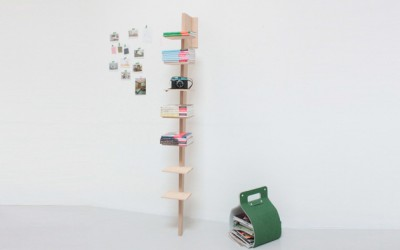 Beech Wood Wall Shelf by Caroline Gomez